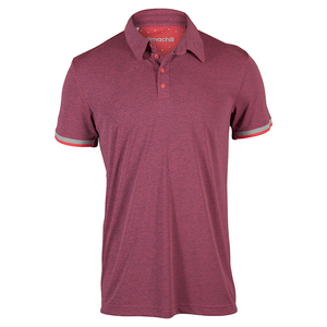Men`s Climachill Tennis Polo Shock Red