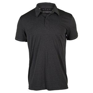 Men`s Climachill Tennis Polo Black Melange