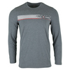 TRAVISMATHEW Men`s Opy Long Sleeve Tennis Top Heather Castlerock
