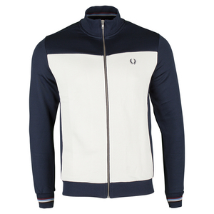 FRED PERRY MENS CONTRAST PANEL TRACK JACKET