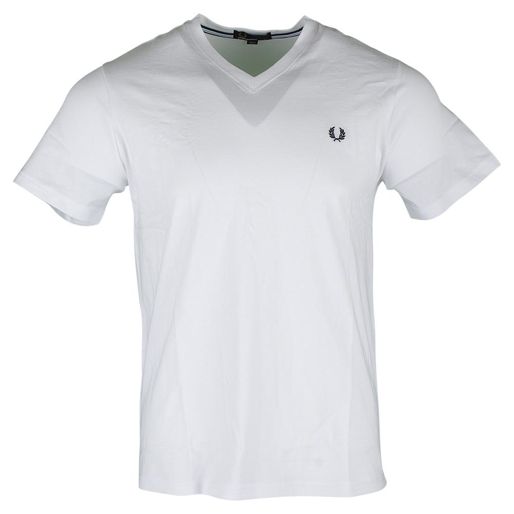 Men's V Neck Tennis Tee White