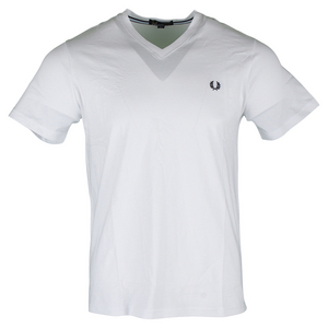 Men`s V Neck Tennis Tee White
