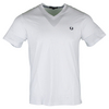 Men`s V Neck Tennis Tee White by FRED PERRY
