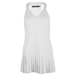 Women`s V Neck Tennis Dress Pure White