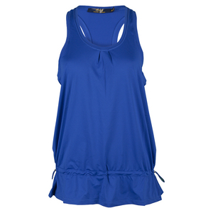 Women`s Cinched Tennis Tank Diplomat Blue