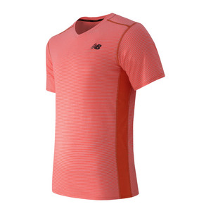 NEW BALANCE MENS STRIPED SONIC TENNIS TOP