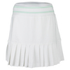 LITTLE MISS TENNIS Girls` Pleated Tennis Skort White with Pepperment Trim