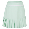 LITTLE MISS TENNIS Girls` Pleated Tennis Skort Pepperment with White Trim