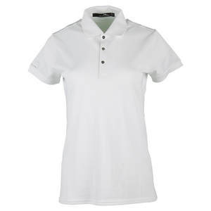 Women`s Short Sleeve Tournament Polo Pure White