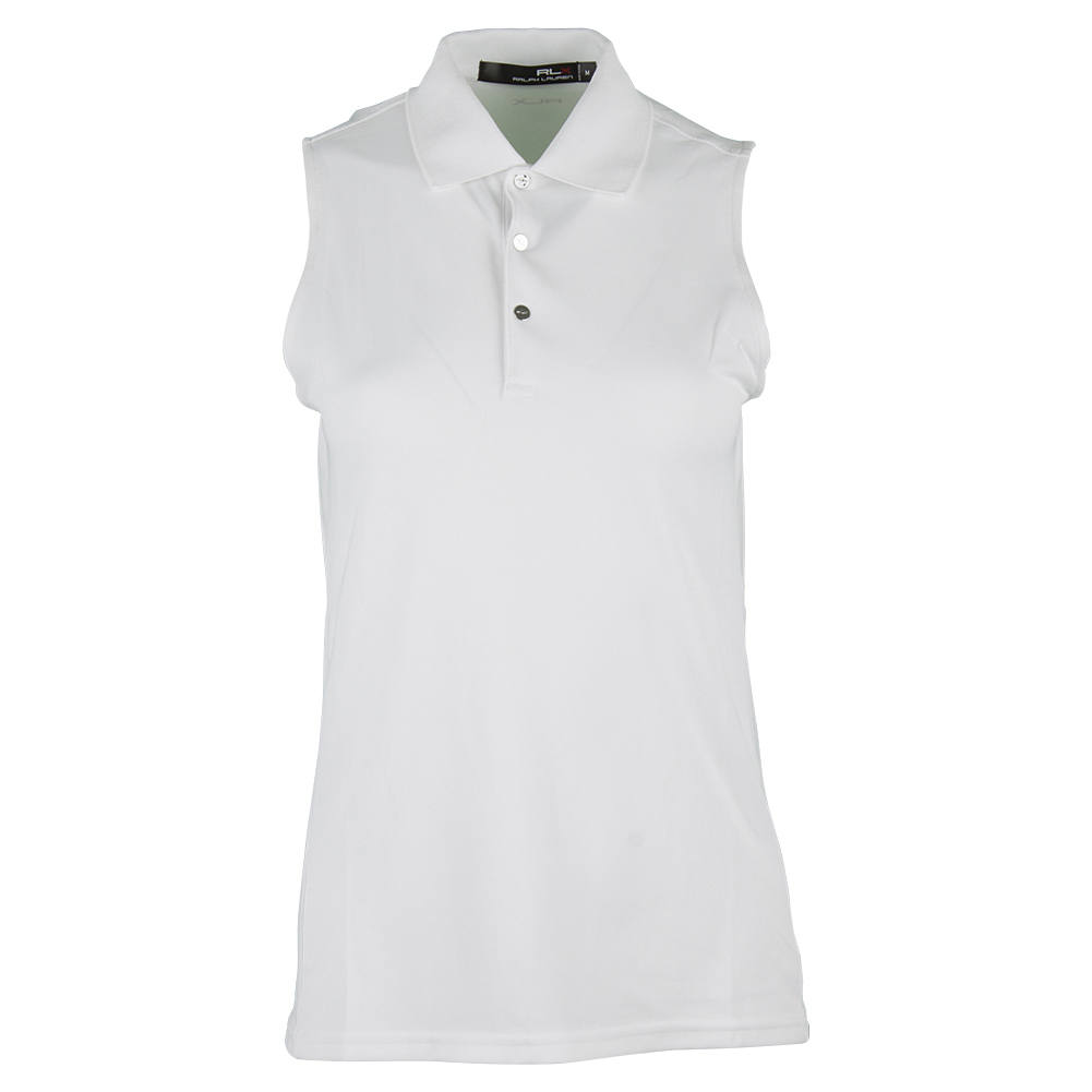 Women's Sleeveless Tournament Polo Pure White
