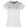 LIJA Women`s Fuse Match Point Tennis Tee White