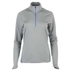 Women`s 1/2 Zip Mock Neck Top Club Gray