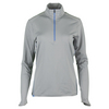 POLO RALPH LAUREN Women`s 1/2 Zip Mock Neck Top Club Gray