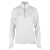 POLO RALPH LAUREN Women`s 1/2 Zip Mock Neck Top Pure White