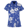 Women`s Printed Tech Pique Top Diplomat Blue by POLO RALPH LAUREN