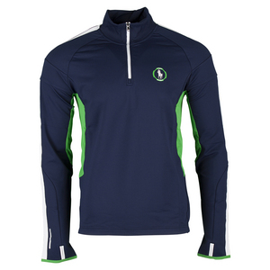 Men`s Long Sleeve Half Zip Tennis Top French Navy