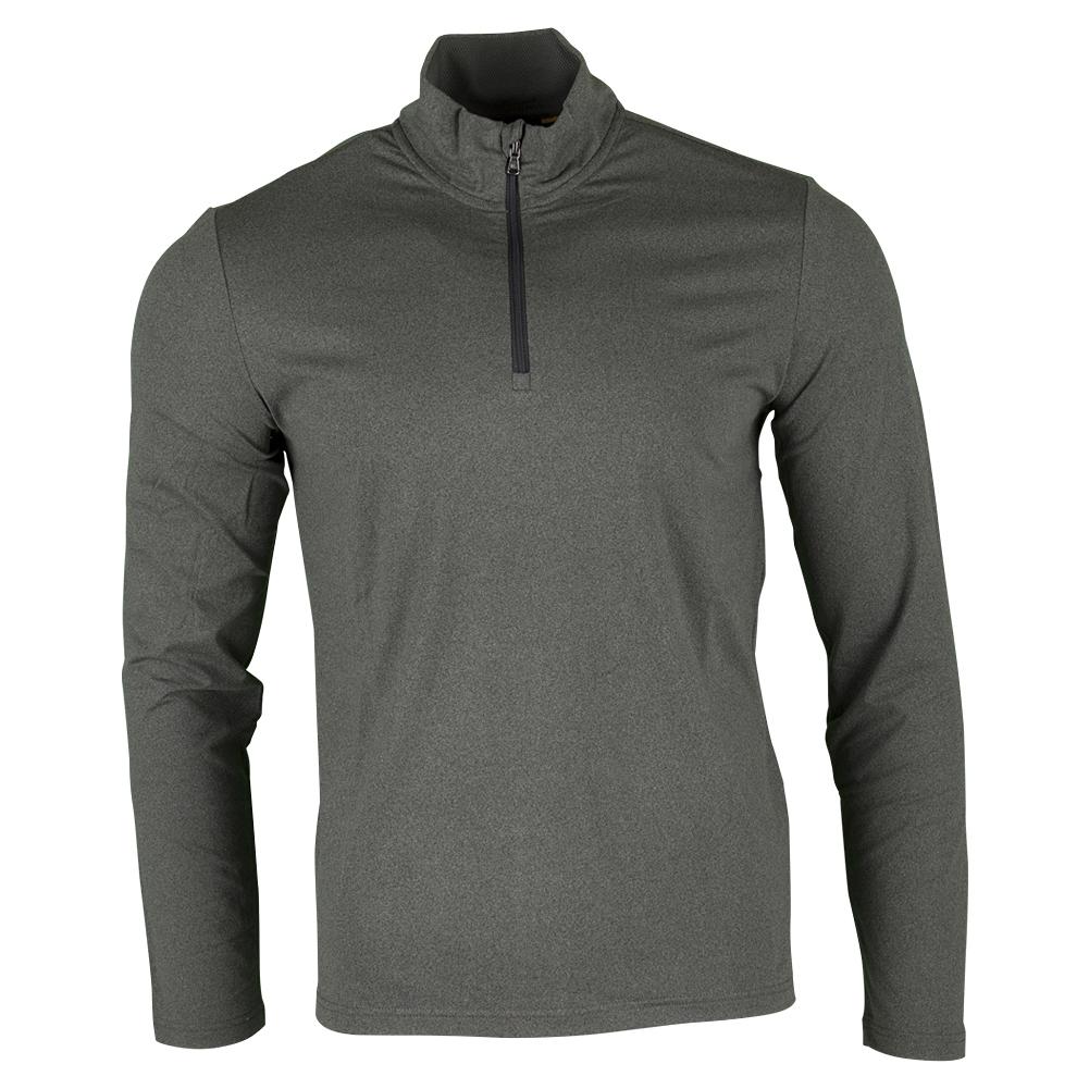 Men's Performance Interlock Long Sleeve 1/2 Zip Top Stadium Gray Heather