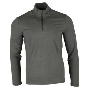 Men`s Performance Interlock Long Sleeve 1/2 Zip Top Stadium Gray Heather