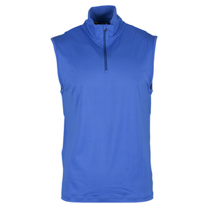 Men`s Performance Interlock 1/2 Zip Vest Diplomat Blue