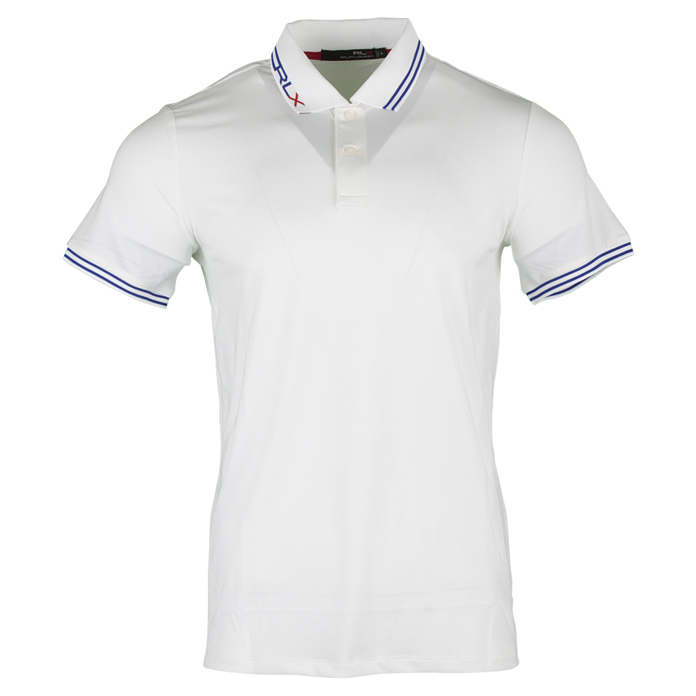 Men's Micro Poly Jacquard Luke Polo Pure White