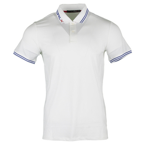 Men`s Micro Poly Jacquard Luke Polo Pure White