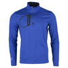 POLO RALPH LAUREN Men`s Brushed Back Tech Jersey 1/2 Zip Top Royal Blue