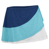 Women`s Propel Colorblocked 12 Inch Tennis Skort Limoges and Blue Atoll by ELEVEN
