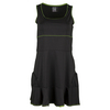 LUCKY IN LOVE Women`s Racerback Tennis Dress Black