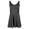 LUCKY IN LOVE Women`s Goddess Tennis Dress Charcoal