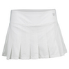 Women`s Flutter 13 Inch Tennis Skort White by ELEVEN