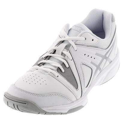 Juniors` Gel-Gamepoint Tennis Shoes White and Silver