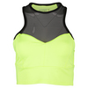 LUCKY IN LOVE Women`s High Neck Tennis Bralette Neon Yellow