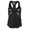 LUCKY IN LOVE Women`s Lace Block Single Tennis Tank Black