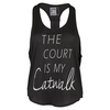 Women`s The Court is my Catwalk Tennis Tank Black by LUCKY IN LOVE