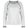 DENISE CRONWALL Women`s Villia Long Sleeve Tennis Top White