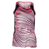 TAIL Women`s Rosella Tennis Tank Electric Rose Aegean Ocean