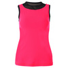 SOFIBELLA Women`s Sleeveless Tennis Top Red Lotus