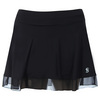 SOFIBELLA Women`s Red Lotus 14 Inch Tennis Skort Black
