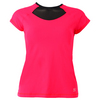 SOFIBELLA Women`s Classic Mock Sleeve Tennis Top Red Lotus