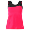 SOFIBELLA Women`s Basic Tennis Tank Red Lotus
