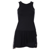 SOFIBELLA Women`s Red Lotus Full Back Tennis Tank Dress Black