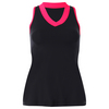 SOFIBELLA Women`s Red Lotus Racerback Tennis Tank Black