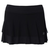 SOFIBELLA Women`s Red Lotus 12 Inch Tennis Skort Black