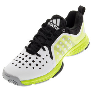 adidas MENS BARR CL BOUNCE TNS SHOES WH/SLIME