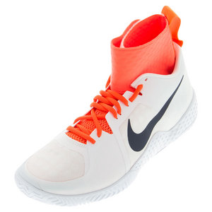 Women`s Flare Tennis Shoes White and Total Crimson