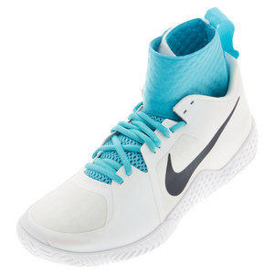 Women`s Flare Tennis Shoes White and Gamma Blue