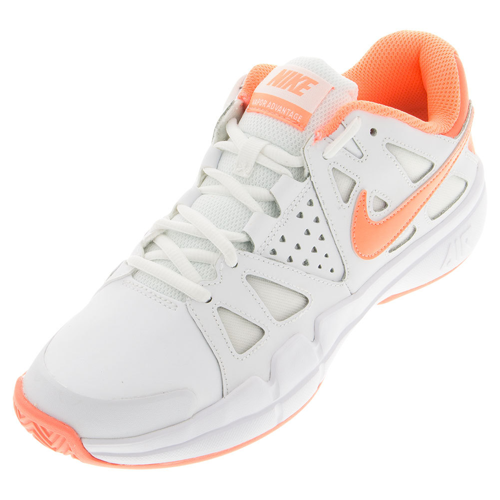 NIKE NIKE Women's Air Vapor Advantage Clay Tennis Shoes White And Atomic  Pink