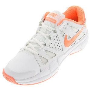 Women`s Air Vapor Advantage Clay Tennis Shoes White and Atomic Pink