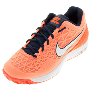 Women`s Zoom Cage 2 Clay Tennis Shoes Atomic Pink and Total Crimson