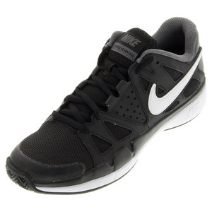 Juniors Air Vapor Advantage Tennis Shoes Black and Dark Gray